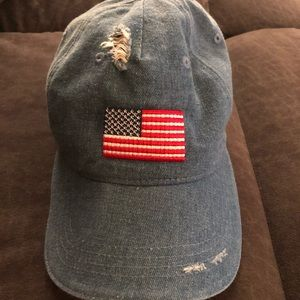 American flag distressed cap.